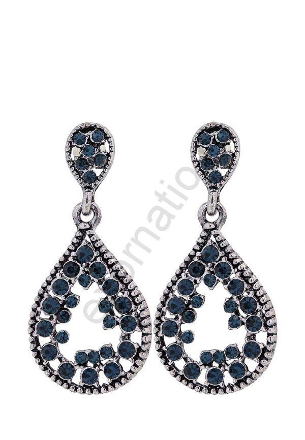 Серьги Taya LX. T-B-9917 EARR-SL.D.BLUE