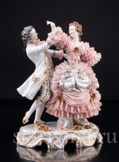 Изображение Танцующая пара, кружевная, Muller & Co, Volkstedt, Германия, 1920-30 гг
