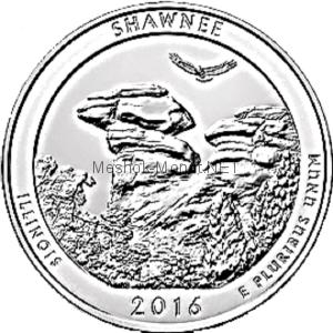 25 центов США 2016, 31-й Национальный заповедник Шони. Shawnee National Forest