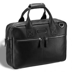 Удобная деловая сумка для документов BRIALDI Glendale (Глендейл) relief black
