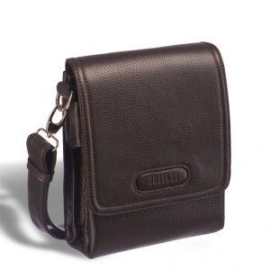 Кожаная сумка через плечо BRIALDI Grand Cleveland (Гранд Кливленд) relief brown