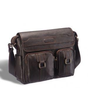 Горизонтальная сумка через плечо BRIALDI Ontario (Онтарио) relief brown