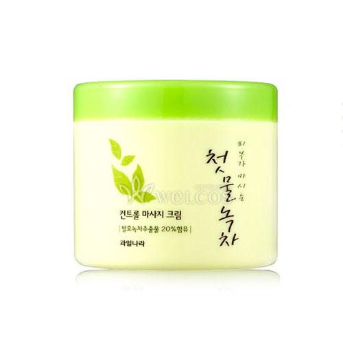 Корейский крем массажный с экстрактом зеленого чая WELCOS Green Tea Control Massage Cream