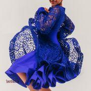 Платье синий электрик Престиж
