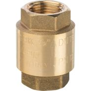"""Клапан обратный пружинный муфтовый с пластиковым седлом  1/2""""    Арт. SVC-0002-000015   STOUT"""
