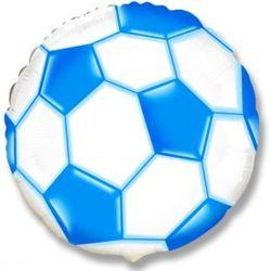 Шар (18''/46 см) Круг, Футбольный мяч, Синий,черный,красный