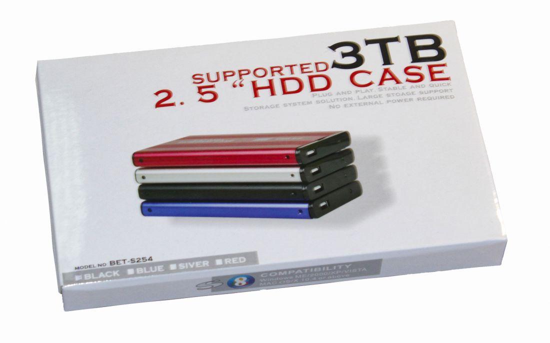"""Внешний корпус для жесткого диска HDD Box 2.5"""" SATA USB2.0 BET-S254"""
