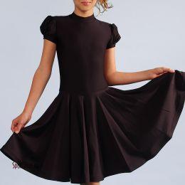"""Детское платье для танцев """"Жасмин"""", черное"""