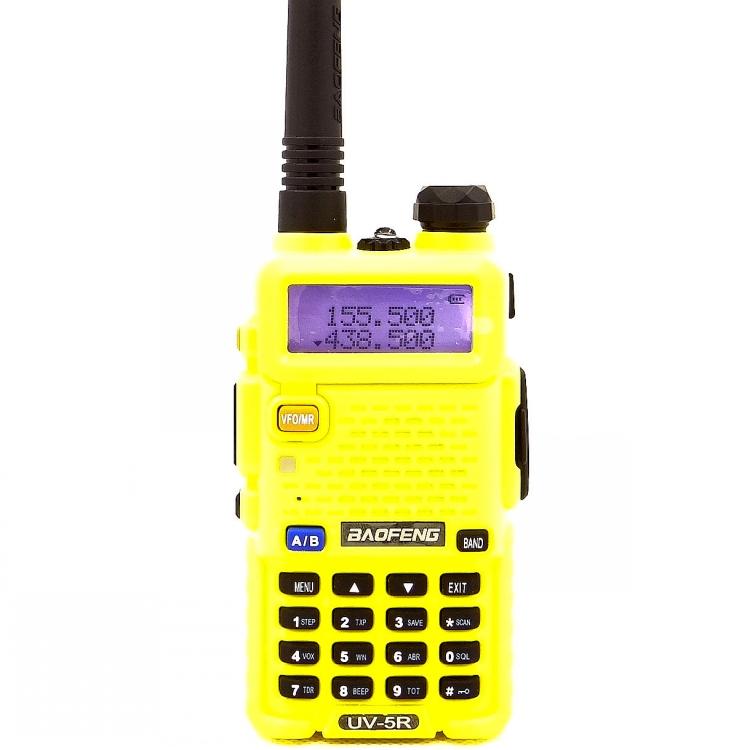 Рация Baofeng UV-5R желтая с гарнитурой (2 режима мощности)