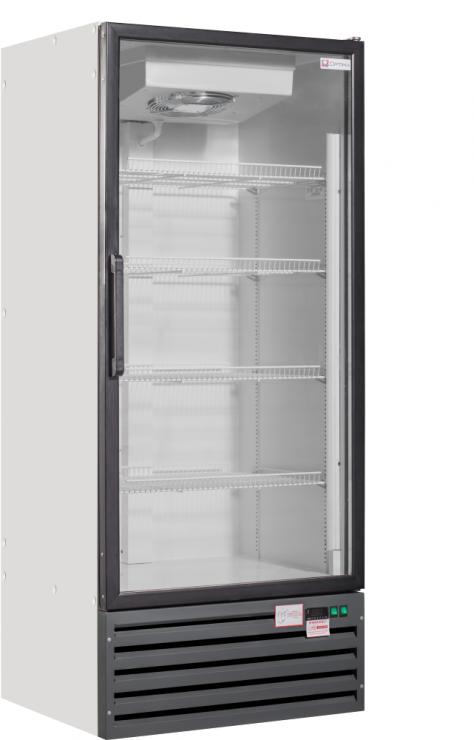 Шкаф морозильный со стеклянными дверьми Optima crystal 7L