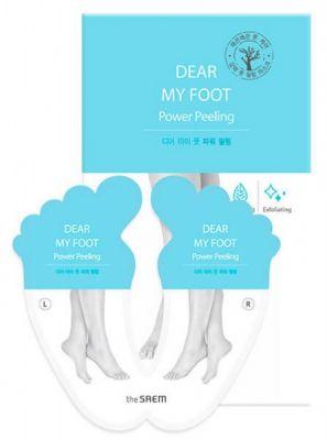 Корейский пилинг для ног SAEM Dear My Foot Power Peeling