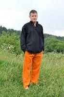 Мужские прямые летние штаны оранжевого цвета из органического хлопка, Москва, интернет магазин