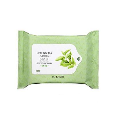 Корейские салфетки очищающие с экстрактом чая SAEM Garden Tea Tree Cleansing Tissue