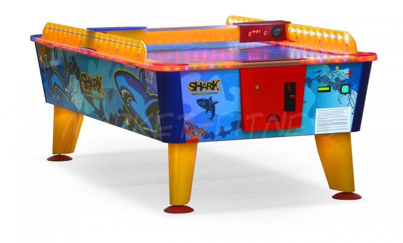 Всепогодный аэрохоккей Shark 8 ф купюроприемник
