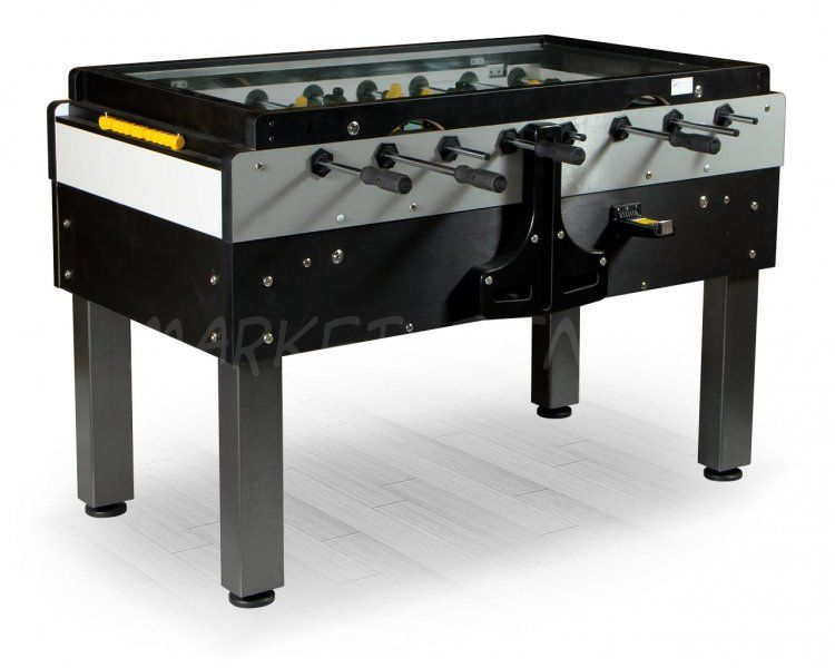 Настольный футбол кикер Pro Sport 144x76x90см, черный, жетоноприемник