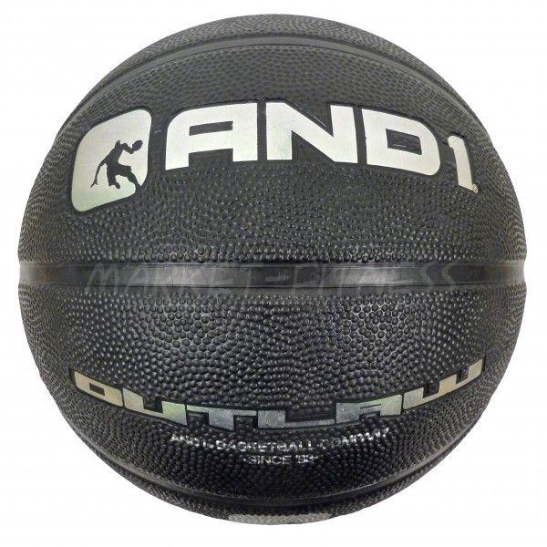 Баскетбольный мяч AND1 OUTLAW BLACK/RED
