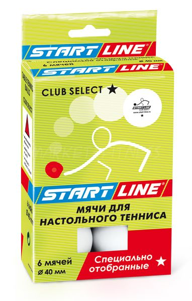 Мячи для настольного тенниса Start line Club Select 1* 6 шт