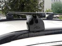 Багажник на крышу Peugeot 4008, Lux, стальные прямоугольные дуги на интегрированные рейлинги