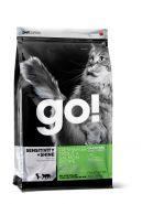 GO! SENSITIVITY + SHINE Беззерновой корм для котят и кошек с чувствительным пищеварением с форелью и лососем (7,26 кг)