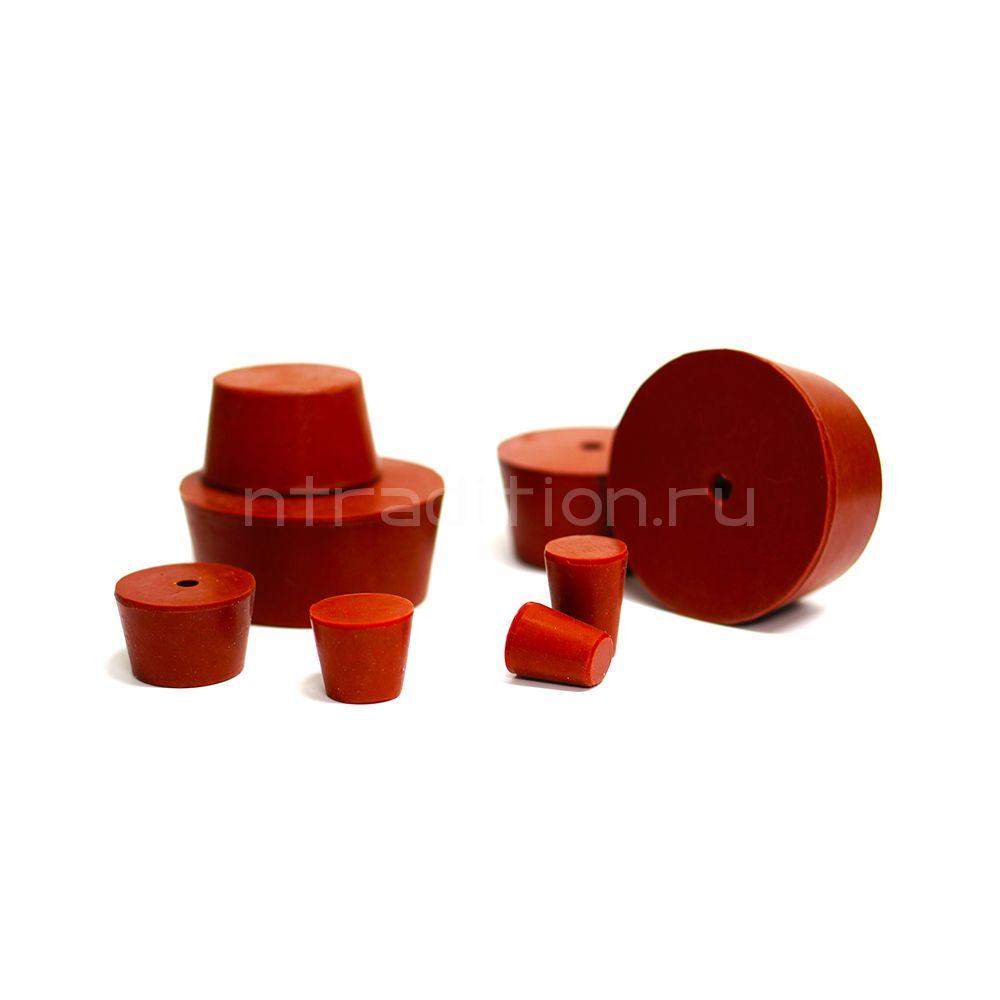 Пробка силиконовая для бутылей №7 37*30/2 с каналом