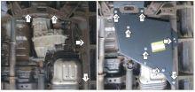 Защита бензобака и раздатки, Motodor, сталь 3мм., V - 2.8л TD