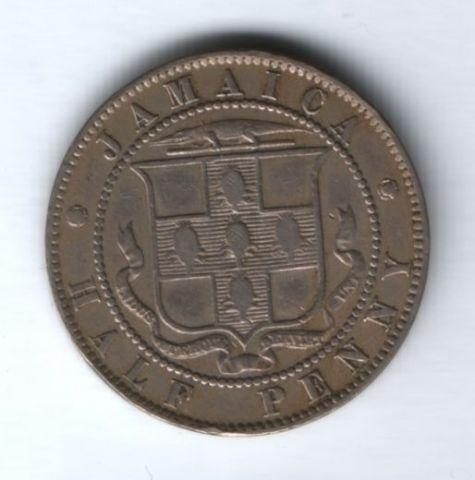 1/2 пенни 1893 г. Ямайка