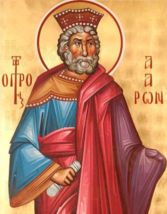 Аарон Первосвященник (рукописная икона)
