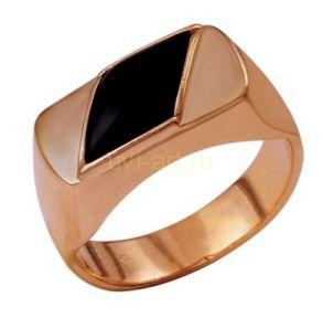 Позолоченное мужское кольцо с ониксом (арт. 788005)