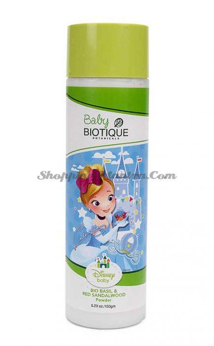 Детская успокаивающая присыпка Принцесса Синдерелла Биотик Базилик&Сандал   Biotique Disney Princess Cinderella Bio Basil & Red Sandalwood Powder