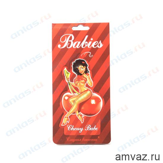 "Ароматизатор подвесной картонный ""Babies Cherry Babe"" Вишня"