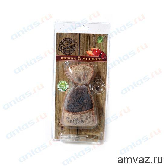 "Ароматизатор подвесной мешочек ""Freshсo Coffee"" Вишня с миндалем"