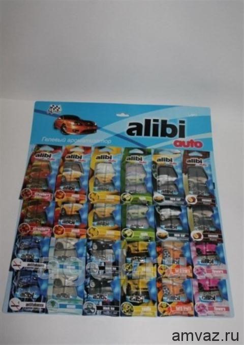 """Ароматизатор подвесной """"Alibi Auto"""" панно 24шт 12SKU"""