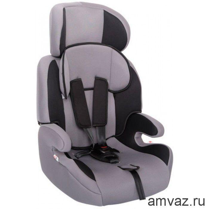 """Детское автомобильное кресло Zlatek - """"Fregat"""" серый, группа  1/2/3"""