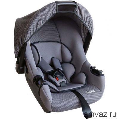 """Детское автомобильное кресло SIGER """"Эгида"""" серый, 0-1,5 лет, 0-13 кг, группа 0+"""