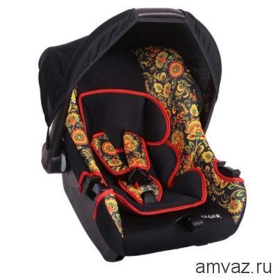 """Детское автомобильное кресло SIGER ART """"Эгида"""" хохлома, 0-1,5 лет, 0-13 кг, группа 0+"""