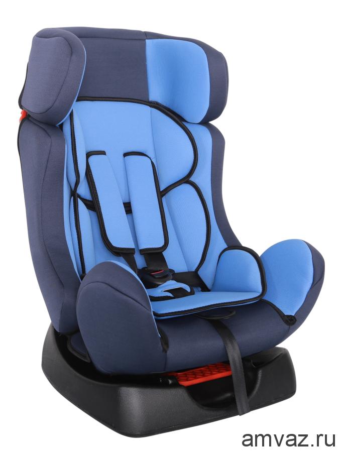 """Детское автомобильное кресло SIGER """"Диона"""" голубой, 0-7 лет, 0-25 кг, группа 0+/1/2"""