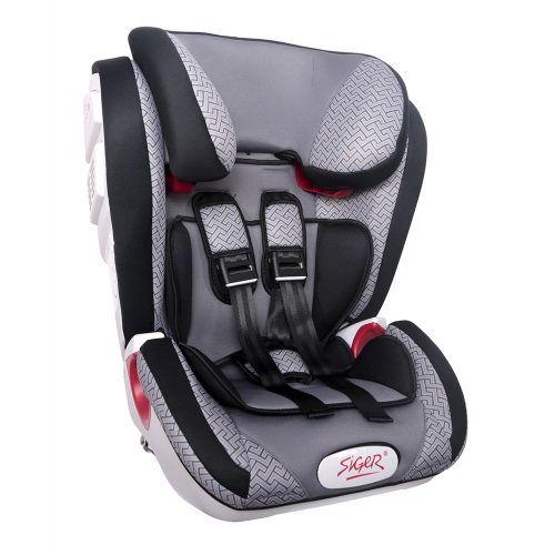 """Детское автомобильное кресло SIGER """"Индиго ISOFIX"""" черный, 1-12 лет, 9-36 кг, группа 1/2/3"""