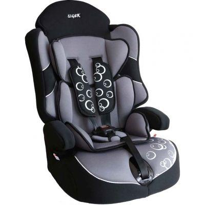 """Детское автомобильное кресло SIGER """"Драйв"""" серый, 1-12 лет, 9-36 кг, группа 1/2/3"""
