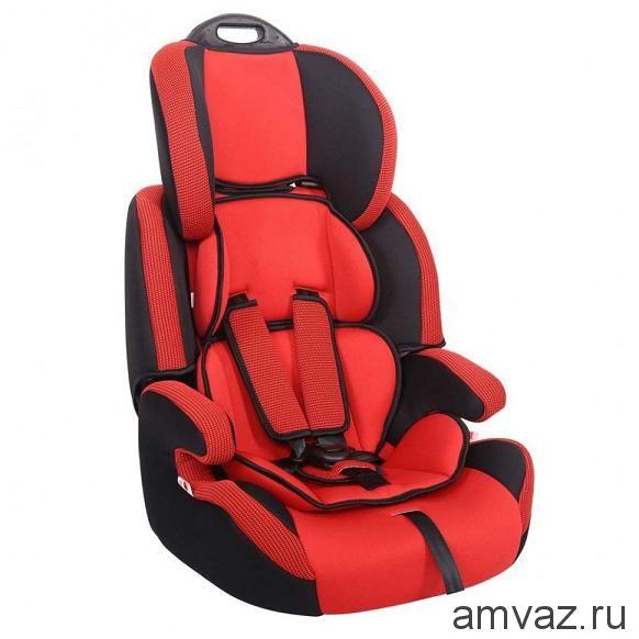 """Детское автомобильное кресло SIGER """"Стар"""" красный, 1-12 лет, 9-36 кг, группа 1/2/3"""