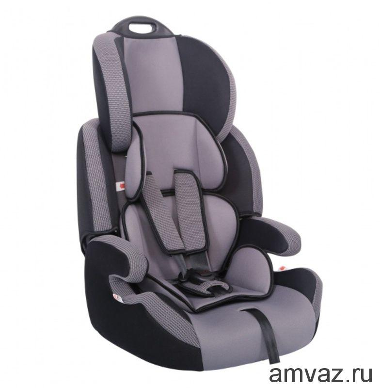 """Детское автомобильное кресло SIGER """"Стар"""" серый, 1-12 лет, 9-36 кг, группа 1/2/3"""