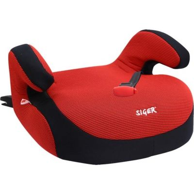 """Детское автомобильное кресло SIGER """"Бустер"""" красный, 6-12 лет, 22-36 кг, группа 3"""