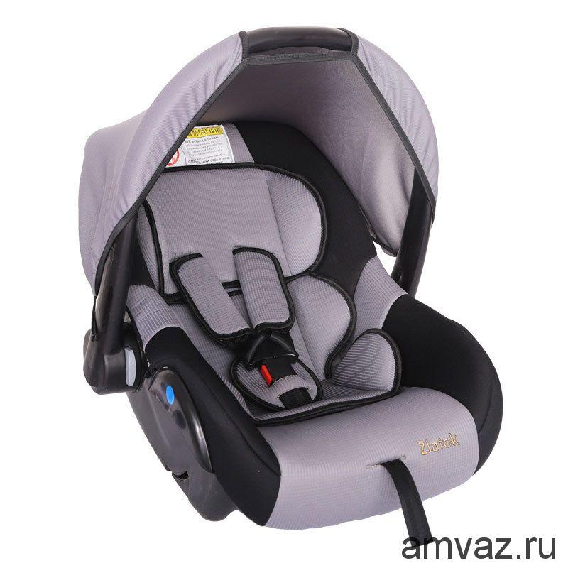 """Детское автомобильное кресло Zlatek - """"Colibri"""" серый, группа  0+"""