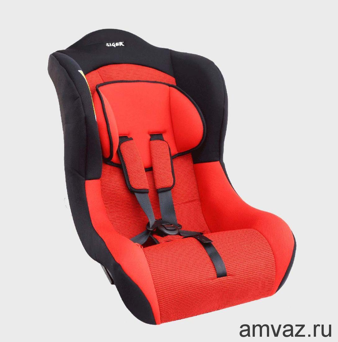 """Детское автомобильное кресло SIGER """"Тотем"""" красный, 0-4 лет, 0-18 кг, группа 0+/1"""