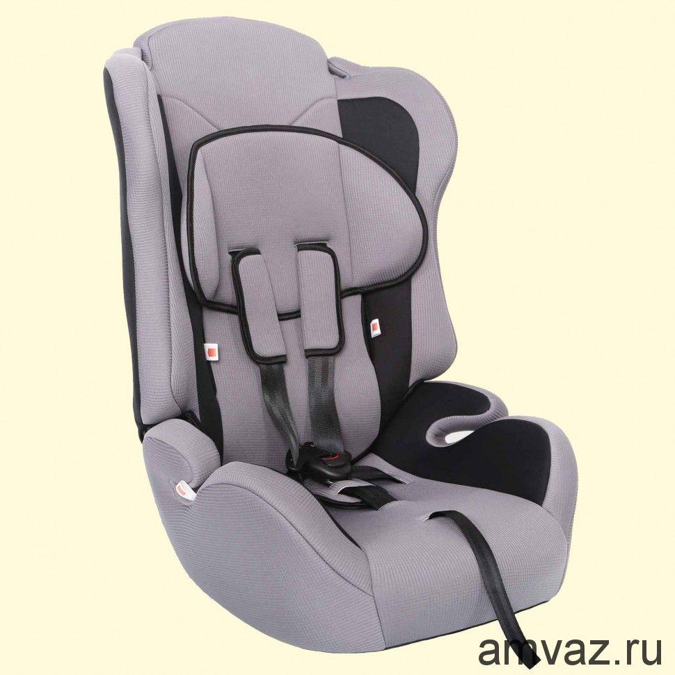 """Детское автомобильное кресло Zlatek - """"Atlantic"""" серый, группа  1/2/3"""