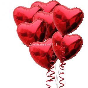 Фольгированный шар Сердце с гелием.