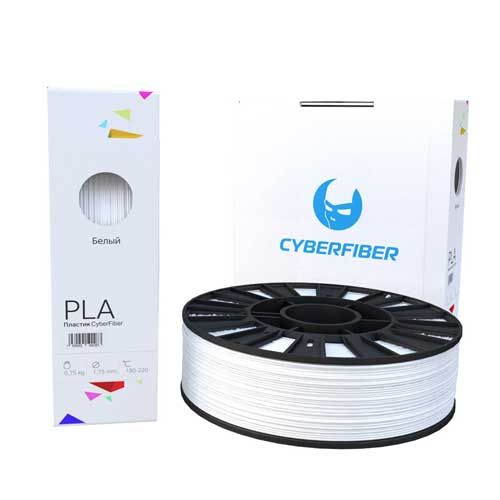 PLA пластик CyberFiber, 1,75мм, белый, 750гр