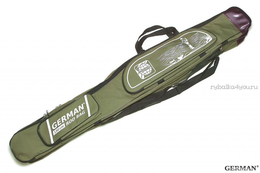 Купить Чехол для удилищ German Rod Bag 1,30 м / темно-зеленый (GR-004351)