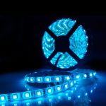Светодиодная лента на светодиодах SMD5050B синяя 60LED/m, в силиконе