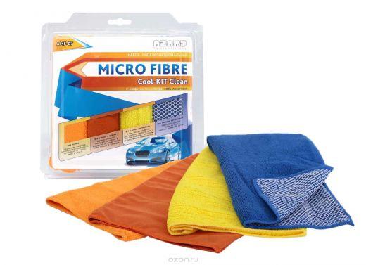 Набор для мойки автомобиля из микрофибры Cool-kit Clean 30х40 (4шт.) арт. AMF-07