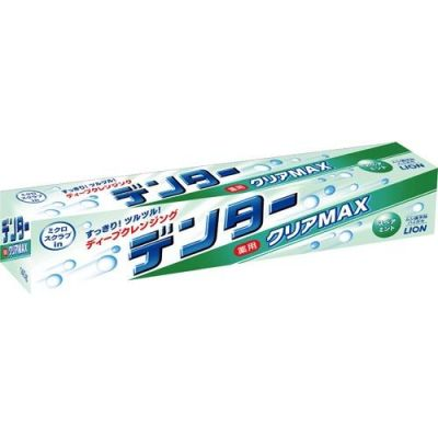 Японская зубная паста защита от кариеса с микрогранулами Dentor Clear MAX Spearmint аромат мяты